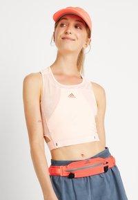 adidas Performance - RUN BELT - Bum bag - pink - 1