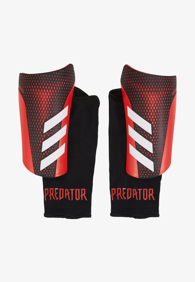 Shin pads - black/actred