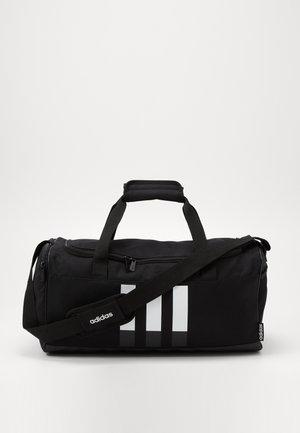 ESSENTIALS 3 STRIPES SPORTS DUFFEL BAG UNISEX - Sports bag - black/black/white