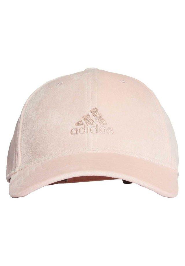 VELVET BASEBALL CAP - Caps - pink
