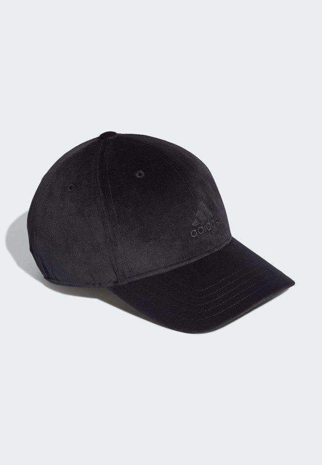 VELVET BASEBALL CAP - Keps - black