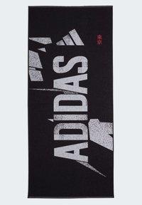 adidas Performance - GRAPHIC COTTON TOWEL - Handdoek - black - 1