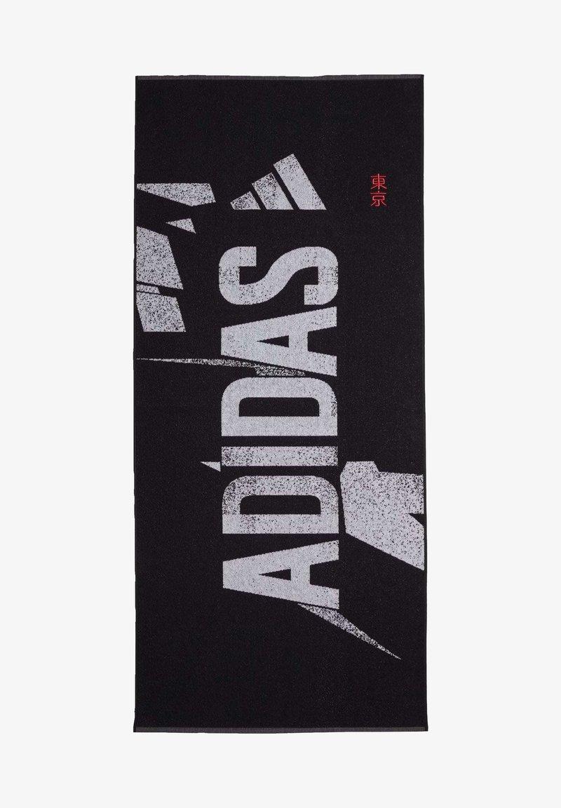 adidas Performance - GRAPHIC COTTON TOWEL - Handdoek - black