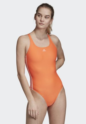 ATHLY V 3-STRIPES SWIMSUIT - Swimsuit - orange
