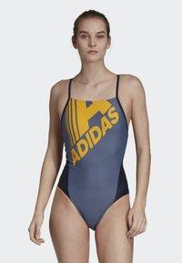 adidas Performance - ADIDAS LOGO FITNESS SWIMSUIT - Badpak - blue - 0
