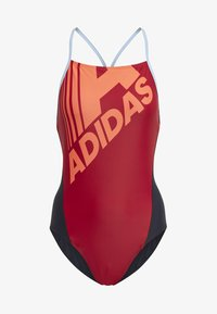 adidas Performance - ADIDAS LOGO FITNESS SWIMSUIT - Swimsuit - red - 6