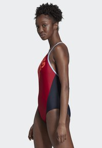 adidas Performance - ADIDAS LOGO FITNESS SWIMSUIT - Swimsuit - red - 2