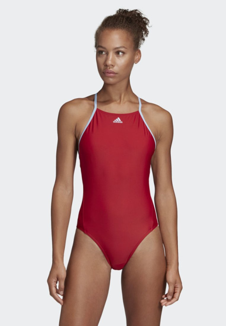 adidas Performance - COLORBLOCK FITNESS SWIMSUIT - Swimsuit - red/blue