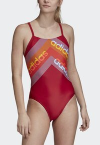adidas Performance - ATHLY LIGHT GRAPHIC SWIMSUIT - Swimsuit - red - 4