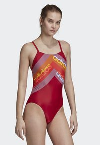 adidas Performance - ATHLY LIGHT GRAPHIC SWIMSUIT - Swimsuit - red - 3