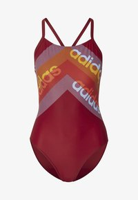 adidas Performance - ATHLY LIGHT GRAPHIC SWIMSUIT - Swimsuit - red - 8