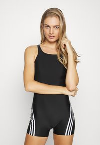 adidas Performance - FIT LEGSUIT - Bañador - black/white - 1