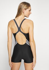 adidas Performance - FIT LEGSUIT - Bañador - black/white - 2