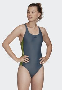 adidas Performance - ATHLY V 3-STRIPES SWIMSUIT - Maillot de bain - blue - 0