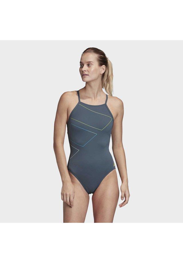 ADIDAS SH3.RO 4HANA SWIMSUIT - Swimsuit - blue