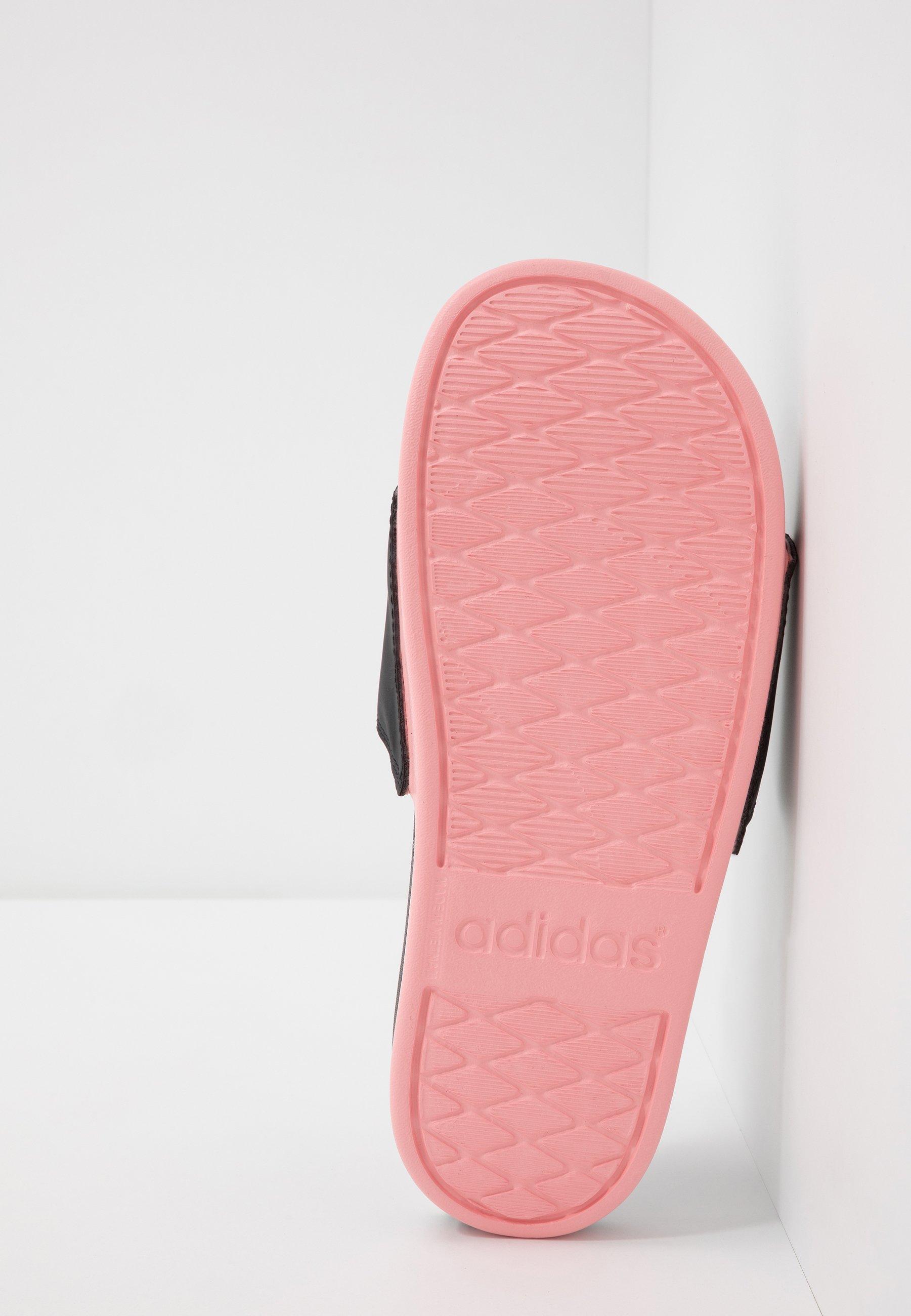 adidas Performance ADILETTE CF LOGO - Sandały kąpielowe - core black/glow pink