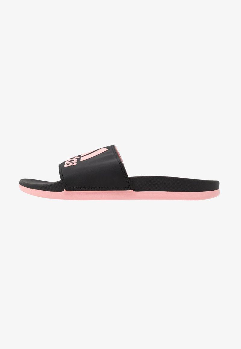 adidas Performance - ADILETTE CF LOGO - Badslippers - core black/glow pink