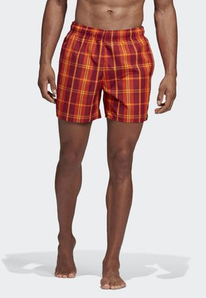 CHECK PRINT SWIM SHORTS - Swimming shorts - red