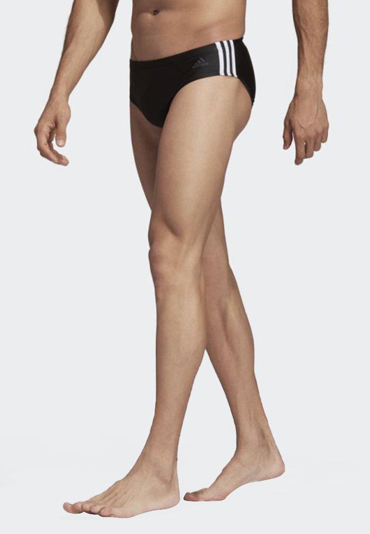 adidas Performance - Fitness 3-Stripes Swim Trunks - Swimming briefs - black/white
