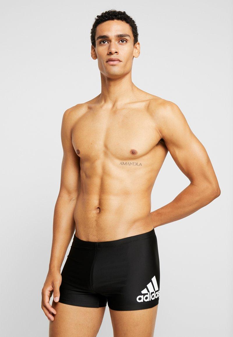 adidas Performance - FIT  - Swimming shorts - black/white