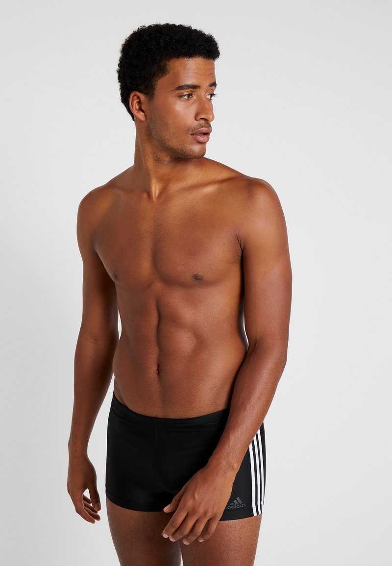 adidas Performance - FIT - Swimming trunks - black/white