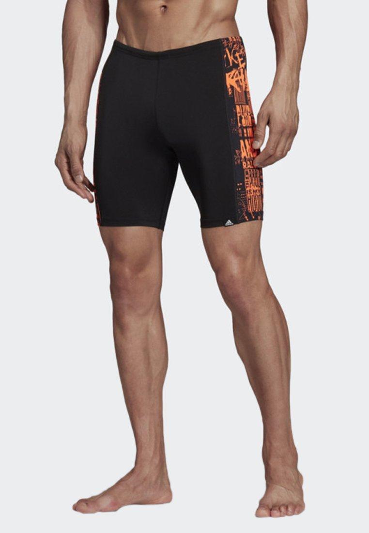 adidas Performance - PLACED PRINT PRO SWIM JAMMERS - Swimming trunks - black