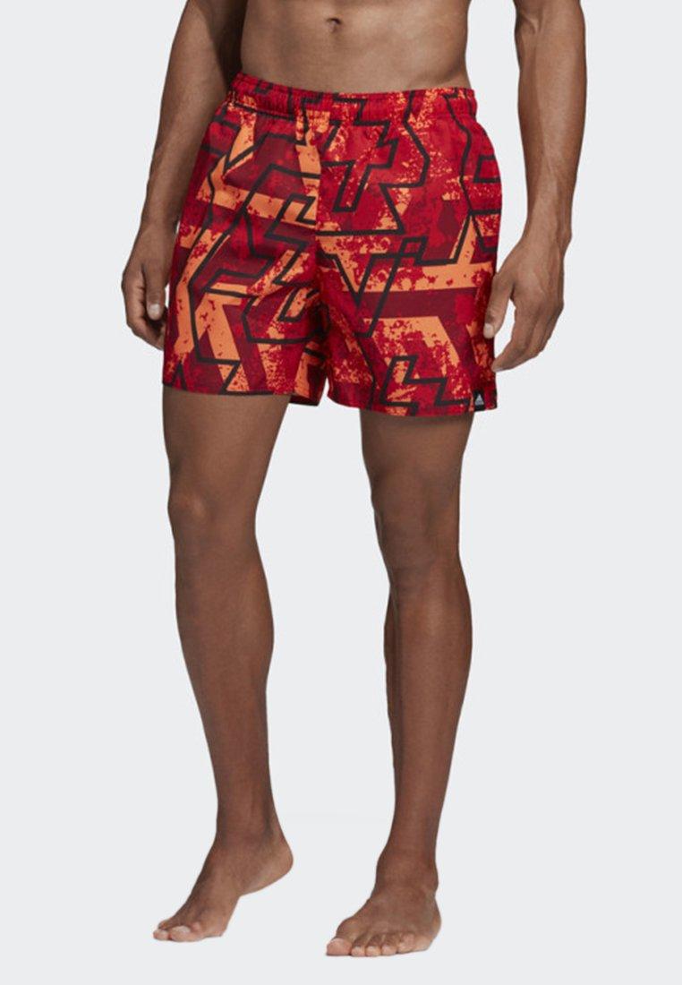 adidas Performance - STORY SWIM SHORTS - Swimming shorts - dark red/orange