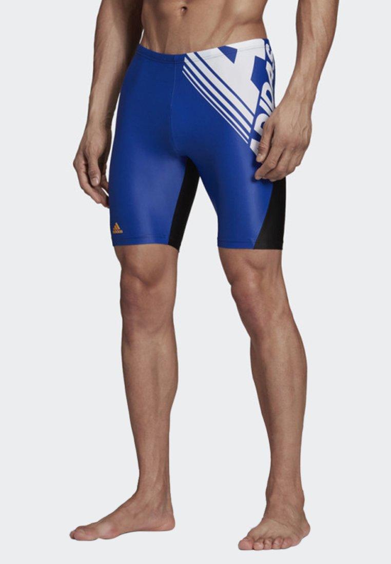 adidas Performance - COLORBLOCK SWIM FITNESS JAMMERS - Swimming shorts - blue