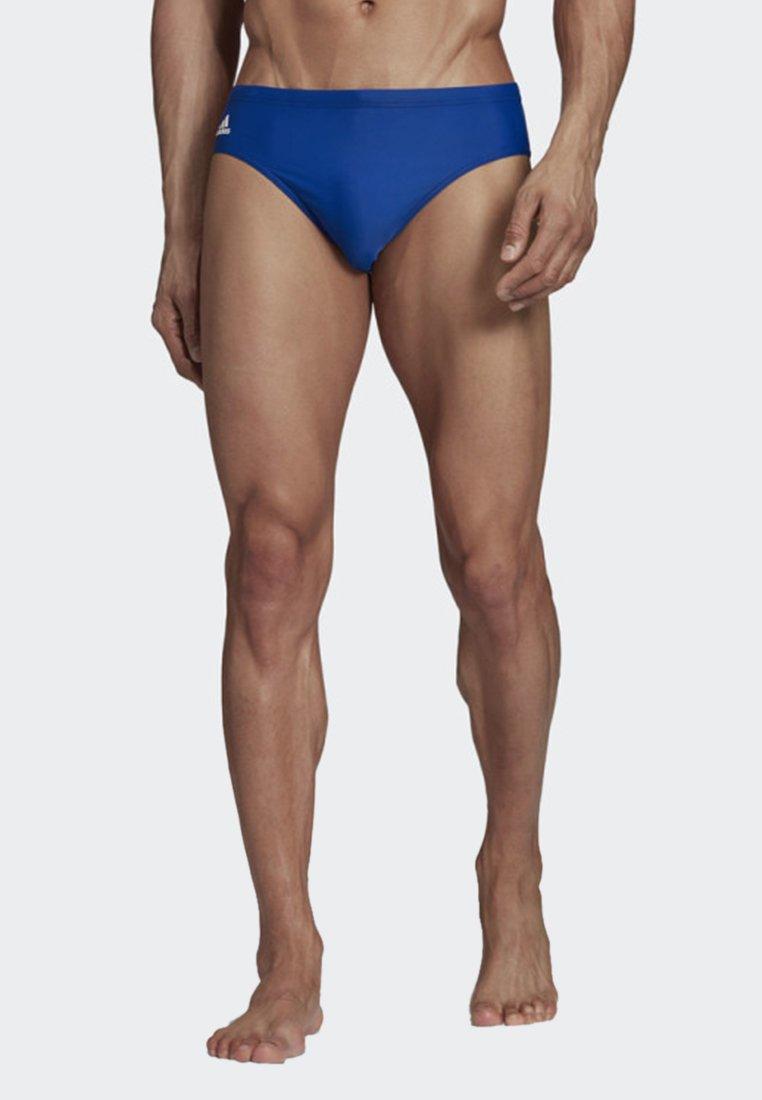 adidas Performance - LOGO SWIM FITNESS TRUNKS - Swimming briefs - blue