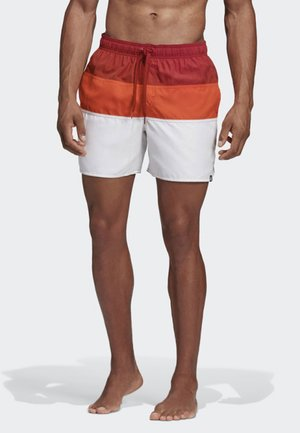 COLORBLOCK SWIM SHORTS - Swimming shorts - red