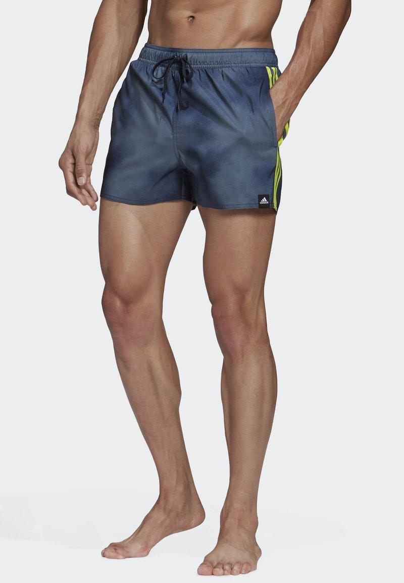 adidas Performance - 3-STRIPES FADE CLX SWIM SHORTS - Costume da bagno - blue