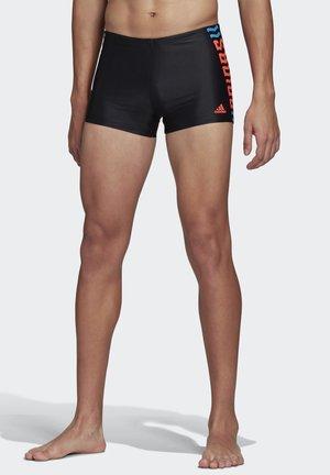 ADIDAS WORDING SWIM BRIEFS - Swimming trunks - black
