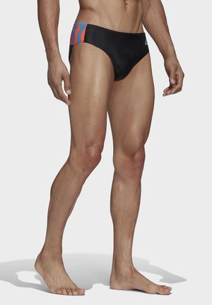 ADIDAS WORDING SWIM TRUNKS - Swimming briefs - black