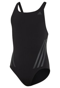 adidas Performance - PRO V 3-STRIPES SWIMSUIT - Badpak - black/ grey - 2
