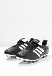 adidas Performance - KAISER 5 LEATHER FOOTBALL BOOTS FIRM GROUND - Moulded stud football boots - black/running white/rot - 2
