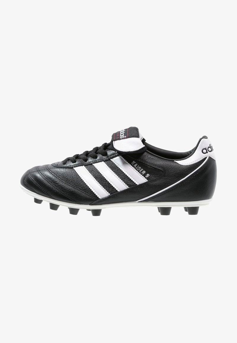adidas Performance - KAISER 5 LEATHER FOOTBALL BOOTS FIRM GROUND - Moulded stud football boots - black/running white/rot