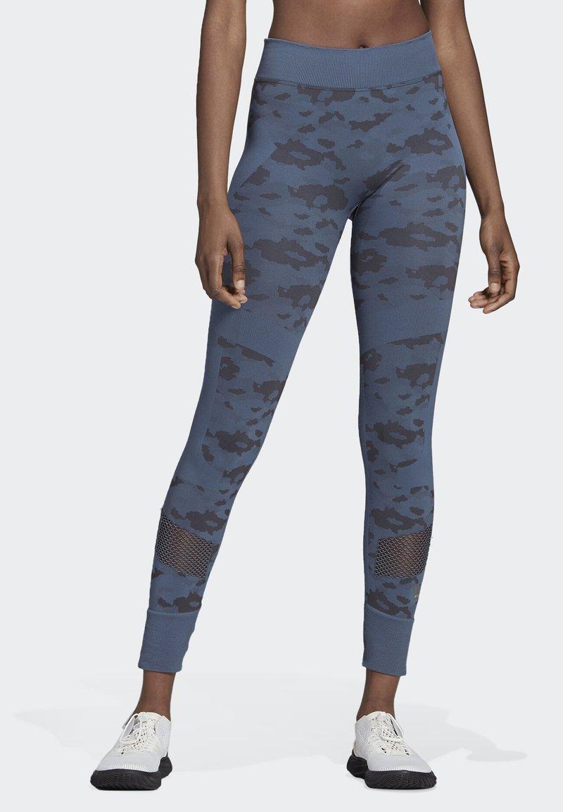 adidas by Stella McCartney - ESSENTIAL SEAMLESS LEGGINGS - Tights - blue