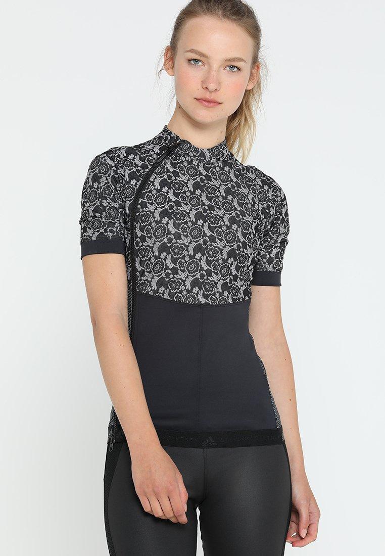 adidas by Stella McCartney - RUN TEE - Print T-shirt - black/white