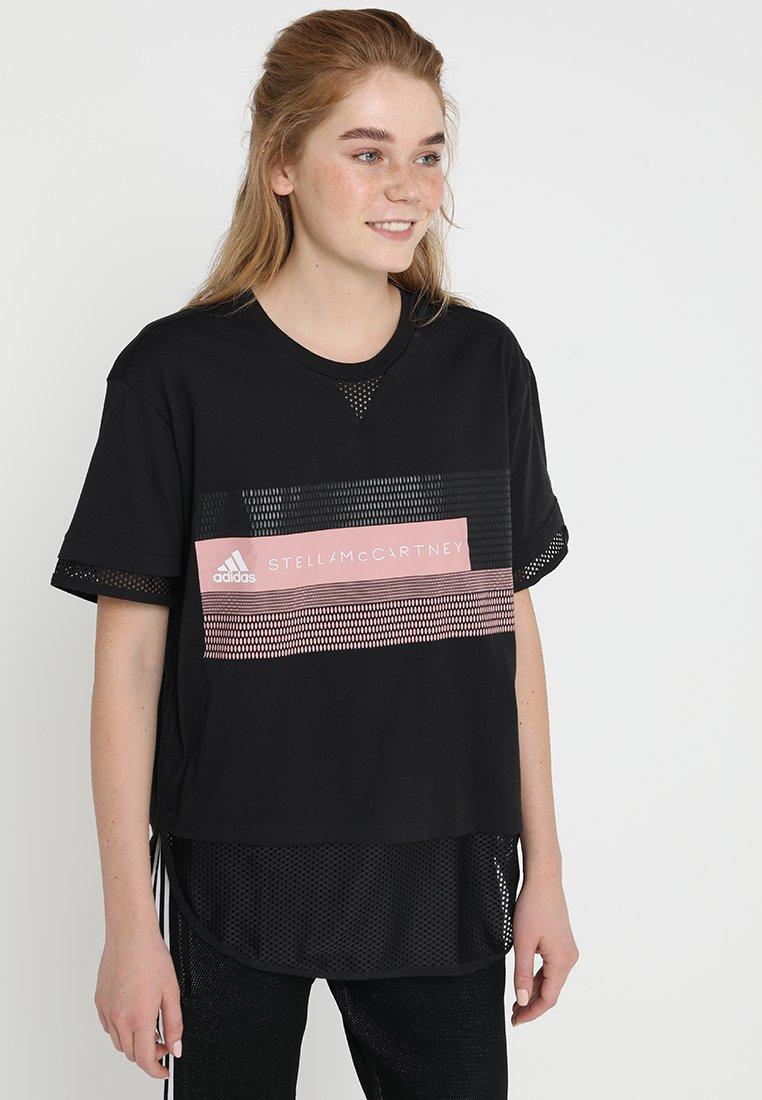 adidas by Stella McCartney - LOGO TEE - T-Shirt print - black