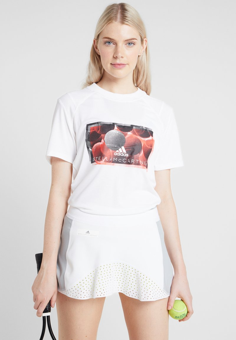 adidas by Stella McCartney - IVIEW TEE - T-shirt con stampa - white