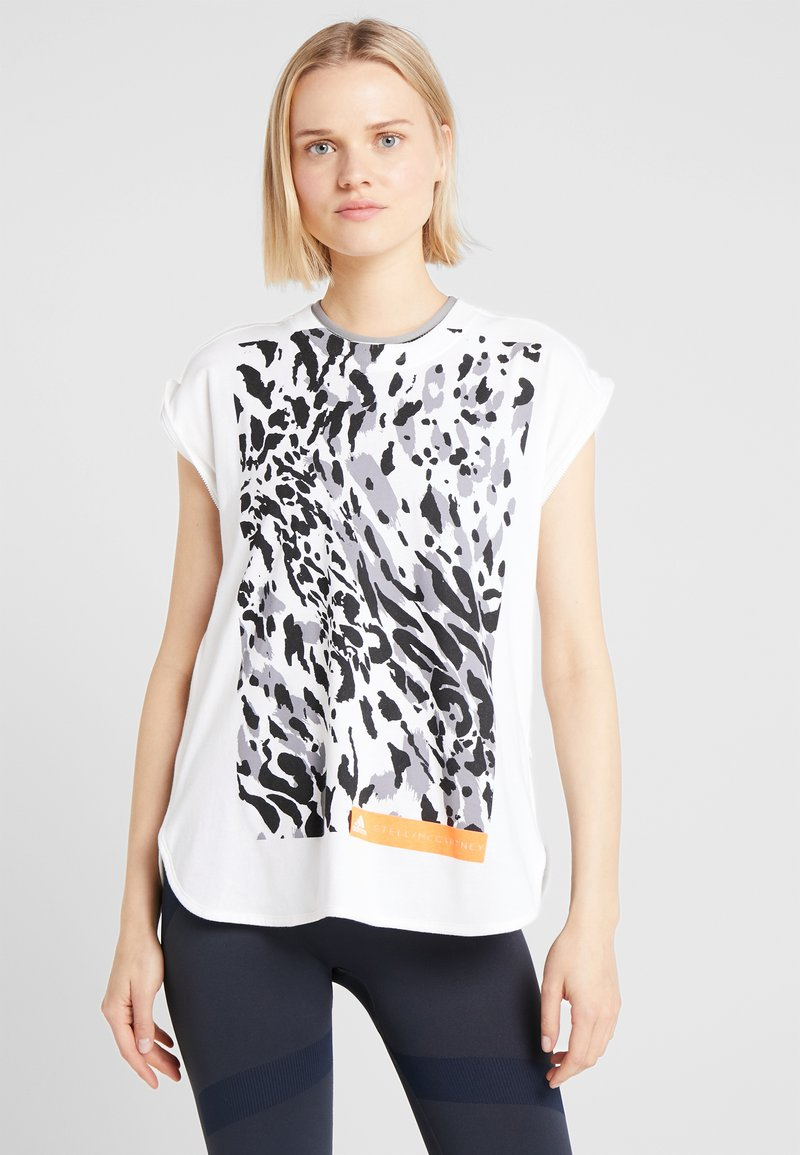 adidas by Stella McCartney - CLIMALITE WORKOUT GRAPHIC TANK - Top - white