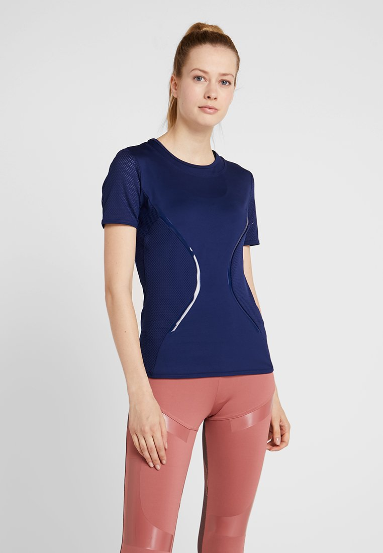 adidas by Stella McCartney - ESSENTIALS SPORT CLIMALITE WORKOUT T-SHIRT - Funktionströja - dark blue