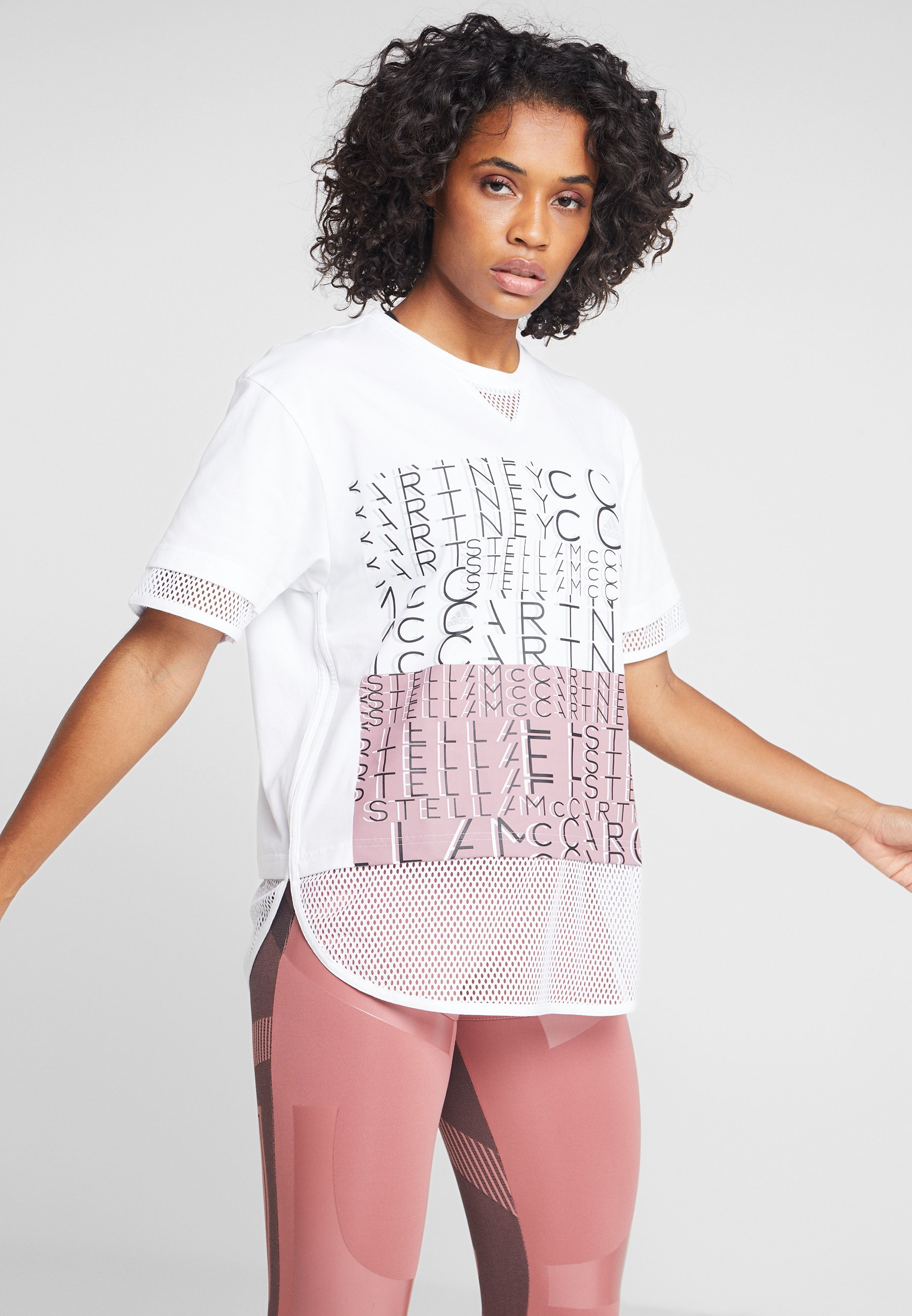 Logo Stella Imprimé shirt Mccartney White Adidas By TeeT BCWEeQdrxo