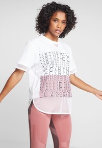 adidas by Stella McCartney - SPORT CLIMALITE WORKOUT GRAPHIC T-SHIRT - Sportshirt - white - 0