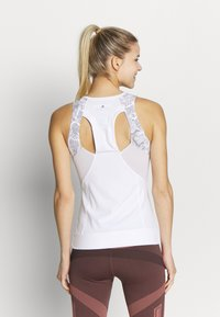 adidas by Stella McCartney - RUN TANK - Sportshirt - white/grey - 2
