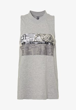 GRAPHIC TANK - Top - grey/white