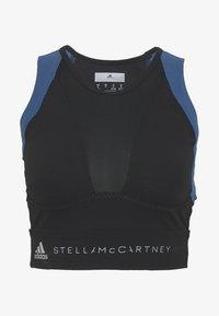 adidas by Stella McCartney - RUN CROP - Sports shirt - black/visblu - 4