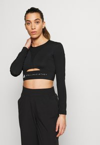 adidas by Stella McCartney - TRAIN CROP - Sports shirt - black - 0