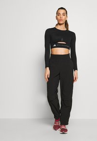 adidas by Stella McCartney - TRAIN CROP - Sports shirt - black - 1