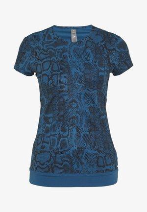 T-shirt med print - visblu